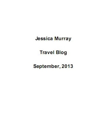 09/2013: travel blog