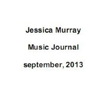 09/2013: music journal