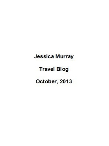 10/2013: travel blog
