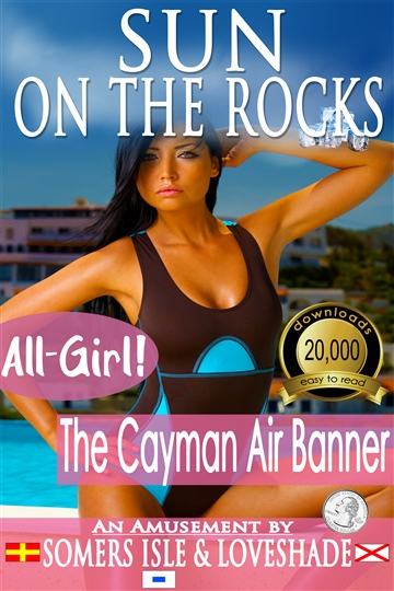 Sun on the Rocks - The Cayman Air Banner
