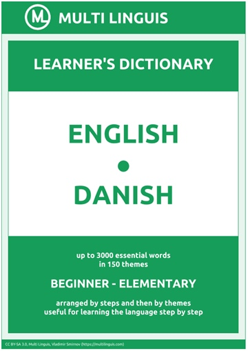 English-Danish (the Step-Theme-Arranged Learner's Dictionary, Steps 1 - 2)