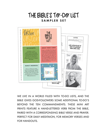 The Bible's To-Do List Sampler by Nancy Ingersoll