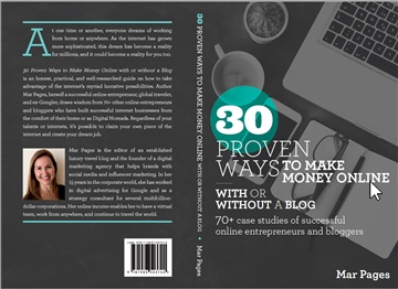 Mar pages : 30 proven ways to make money online with or without a blog