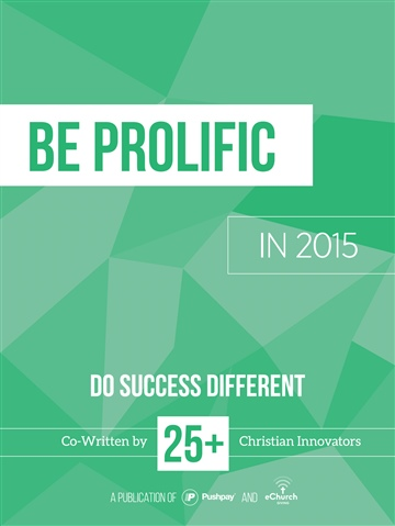 Be Prolific in 2015