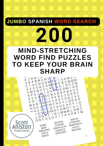 JUMBO Spanish Word Search