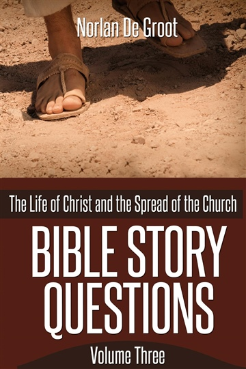 Norlan De Groot : Bible Story Questions Volume Three: The Life of Christ and the Spread of the Church