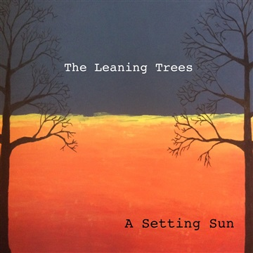 A Setting Sun by Leaning Trees