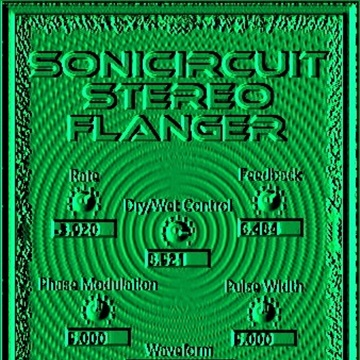 Sonicircuit Stereo Flanger Effect VST / VST3 (Win) Audio Unit (macOS) Plugins. Virtual Stompbox and Pedalboard. Guitar Effects by Syntheway