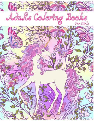 Unicorn Coloring Book by Lola Nicoll