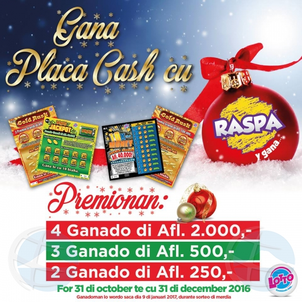 Campaña Raspa Y Gana di Pasco a saca nombernan ganado