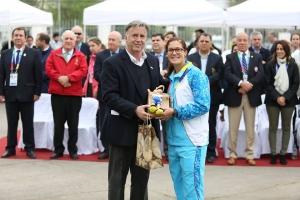 Aruba den Ceremonia di Bandera di Weganan Suramericano Hubenil Santiago 2017