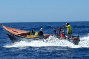 Polis a persigui piscadornan Venezolano den nos awa teritorial