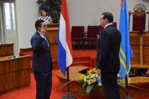 Guilfred Besaril y Andin Bikker eligi presidente y vice presidente di Parlamento respectivamente