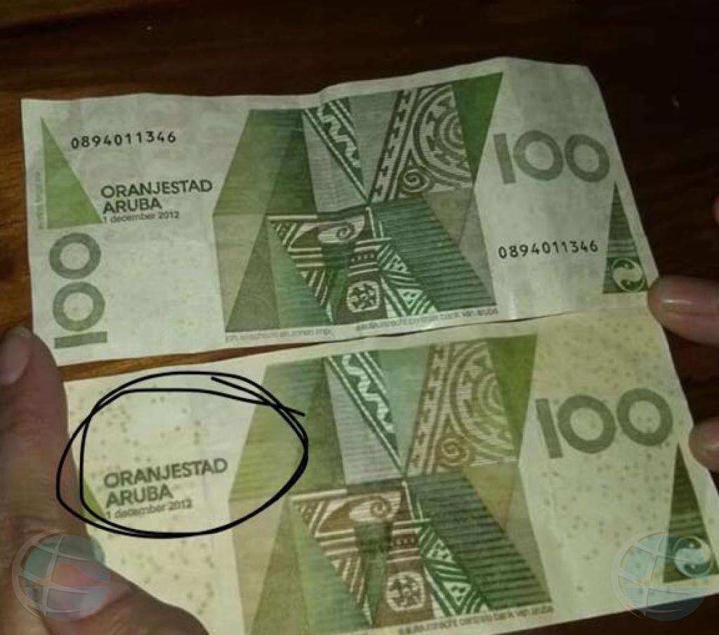 BCA: Tin biyete falso di 100 florin den circulacion