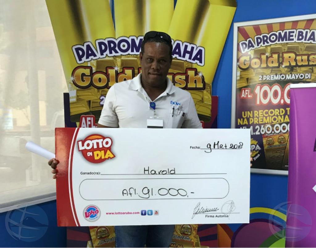 Lotto di Dia a entrega premio di 91 mil florin