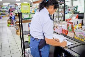 Durante control na algun supermercado a haya kakalaca