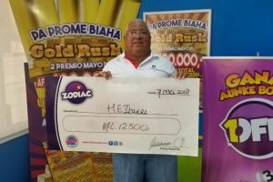Zodiac a paga otro premio mas di Afl. 12.500,-