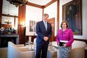 Prome minister di Aruba Wever Croes cerca Rey Willem Alexander