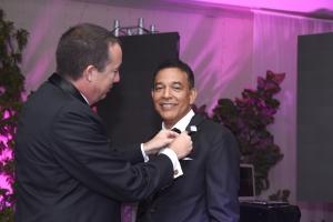 Edsel Lopez a bira presidente di Rotary Club of Aruba