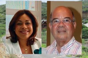 Jossy Lacle y Luenne Pieters candidato pa dirigi Parke Arikok temporalmente