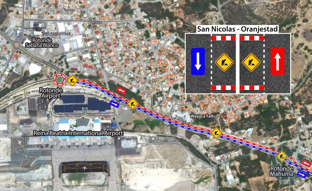 DOW: Trabaonan ariba e ruta di rotonde Airport - Sero Theishi