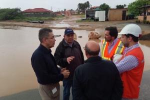 DOW y team di City inspector a recore Aruba pa wak situacion di awa