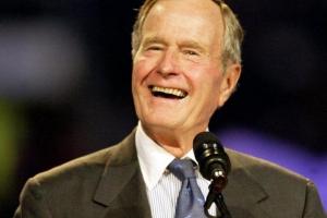 Ex presidente Mericano George H Bush a fayece
