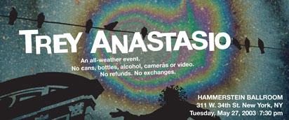 LivePhish - Download or Stream - Trey Anastasio 5/27/03