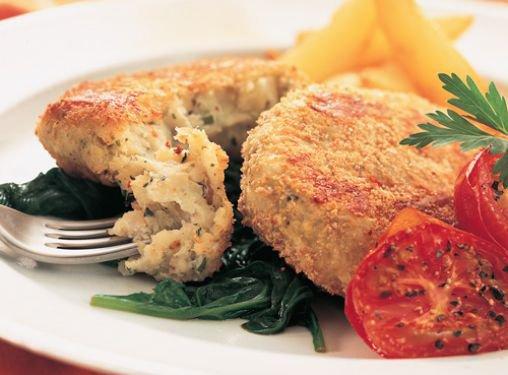 Tortitas de pescado con pesto