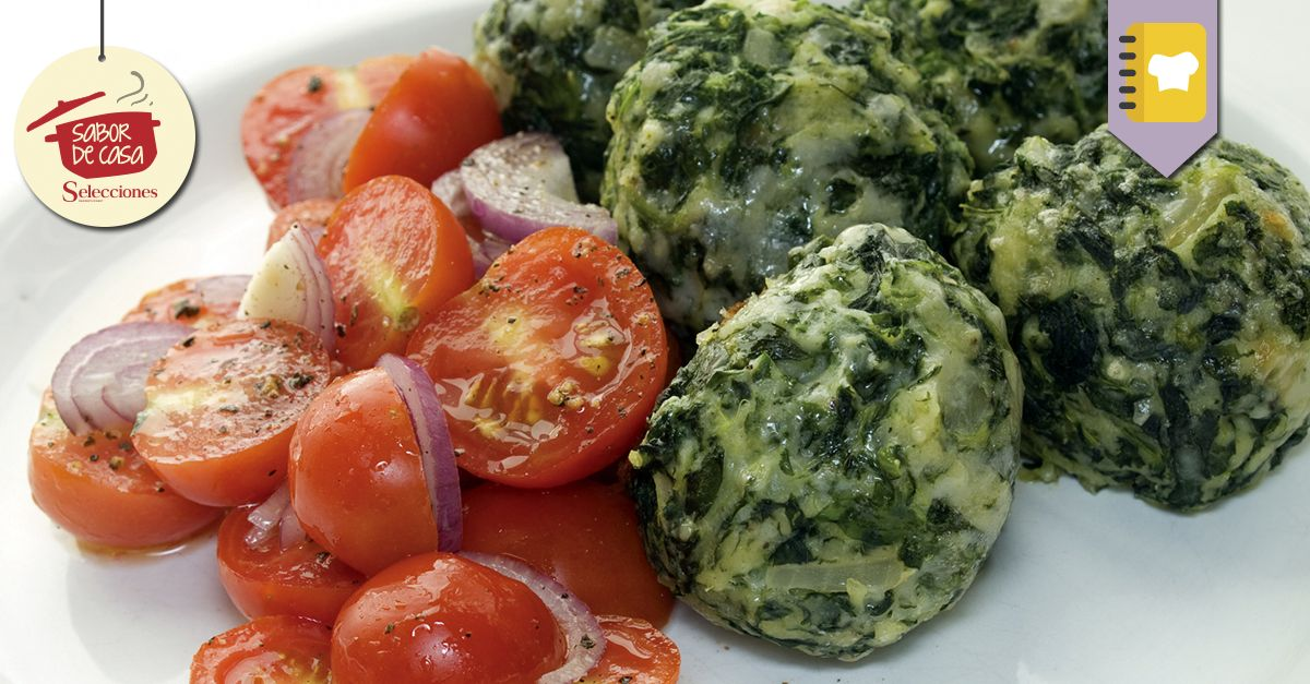 Malfattis con tomates y salvia