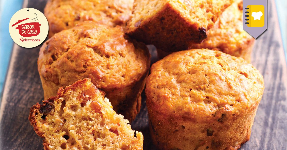Muffins de zanahoria y pasas