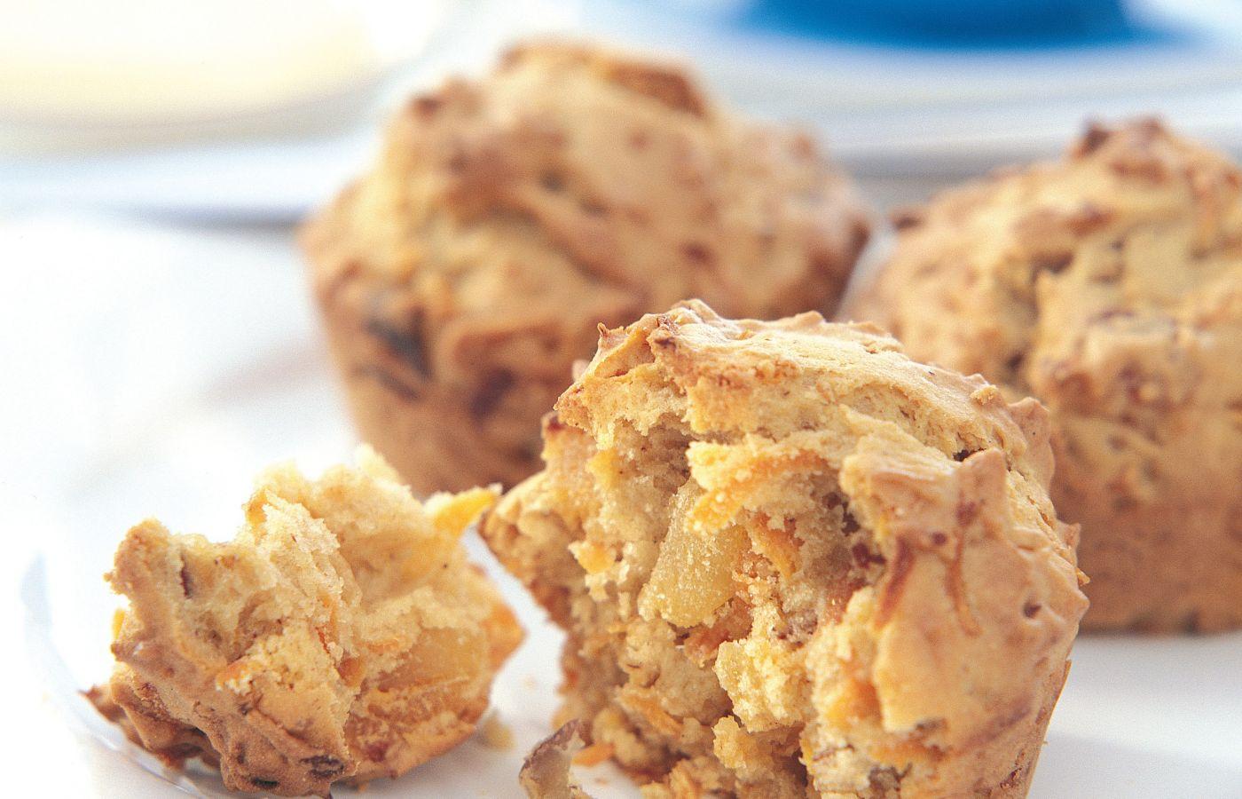 Muffins de zanahoria y damasco con pecanas