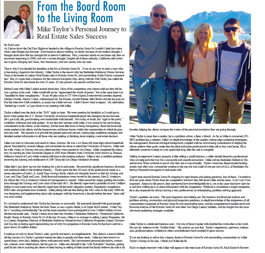 The Michael Taylor Group - Rod Luck Interview