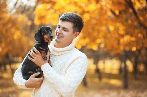 Resultado de imagen para dachshund and owner