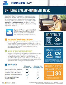 BrokerBay Optional Live Appointment Desk
