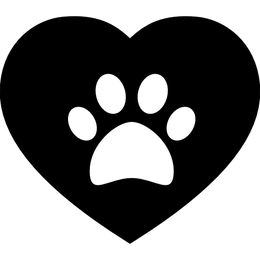 paw in a heart