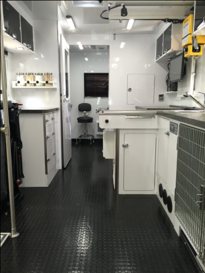 inside the mobile vet
