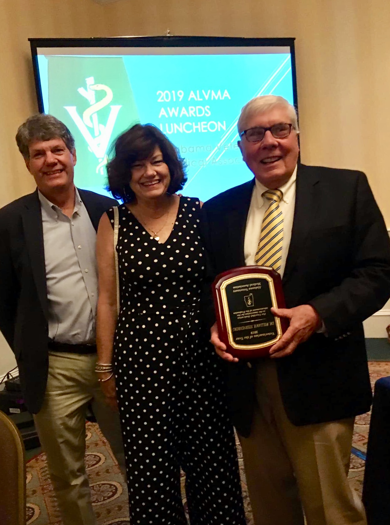 Dr. Sternenberg - Veterinarian of the Year from Alabama Veterinary Medical Association