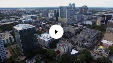 Aerial Footage of Downtown Orlando, FL