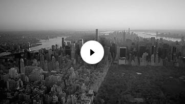 Black & White New York City Skyline Aerial View