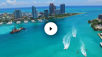 Aerial Miami Beach