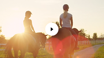 Horseback Riding with Two Girls
