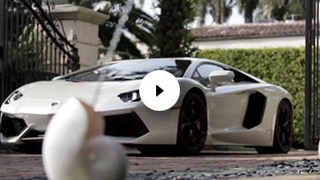 Lamborghini Driving Through Gate