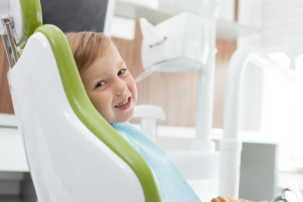 young boy at dental exam