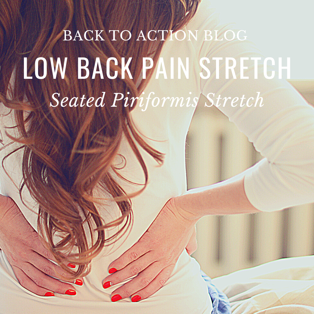 Low Back Pain Stretch:  Seated Piriformis Stretch