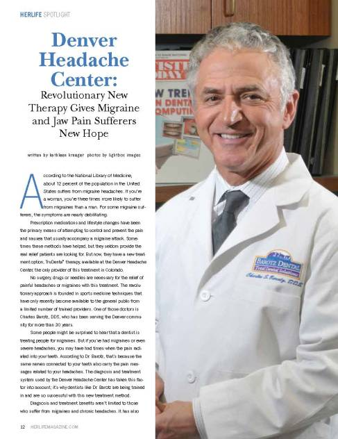 Denver Headache Center featured in the January 2013 Issue of HerLife Magazine Denver
