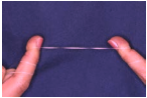 proper way of holding floss