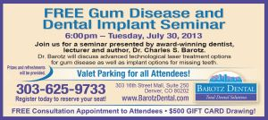 Free Gum Disease and Dental Implant Seminar