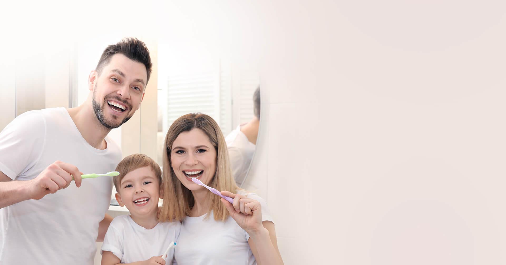 smiling family