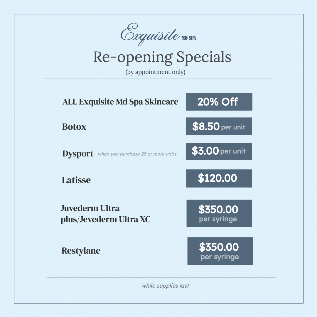 Re-Opening Specials